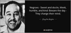 Negroes - Sweet and docile, Meek, 