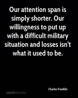 Our attention span is 