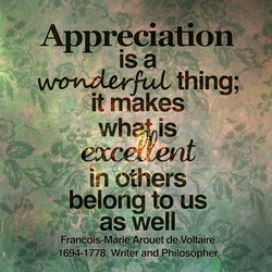 Appreciaüon 