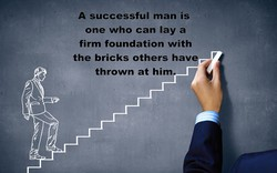 A successful man is 