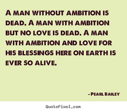 A MAN WITHOUT AMBITION IS 
