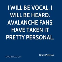 I WILL BE VOCAL. I 