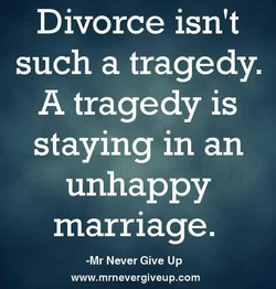 Divorce isn't 