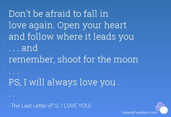 Don't be afraid to fall in 