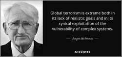 Global terrorism is extreme both in 