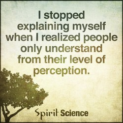 I stopped 