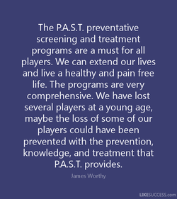 The P.A.S.T. preventative 