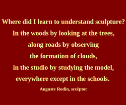 Where did I learn to understand sculpture? 