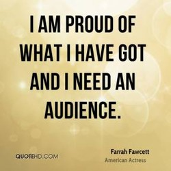 I AM PROUD OF 
