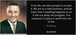 If we die, we want people to accept 