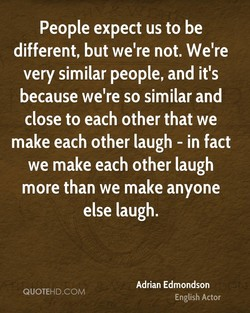 People expect us to be 