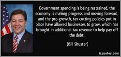 Government spending is being restrained, the 