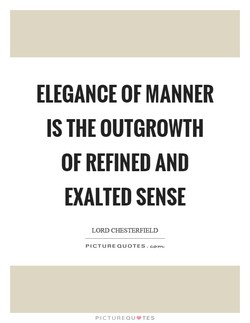 ELEGANCE OF MANNER 