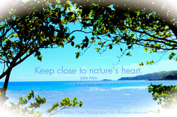 Keep close to nature's heart. 