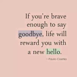 If you're brave 
