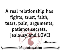 A real relationship has 