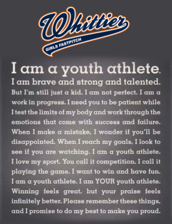 I am a youth athlete. 