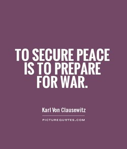 TO SECURE PEACE 