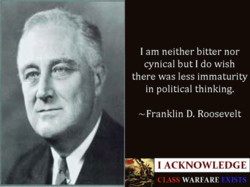 I am neither bitter nor 