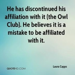 He has discontinued his 
