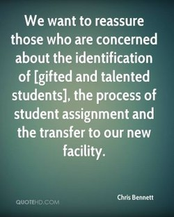 We want to reassure 