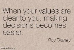 When your values are 
