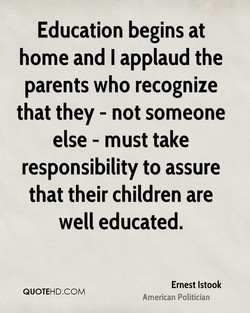 Education begins at 