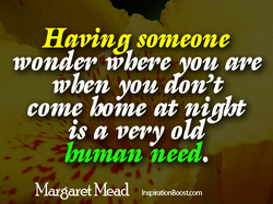 Having someone 