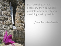 Start by doing what is 