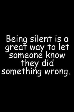 Beina silent is a 