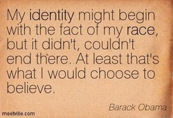 My identity might begin 