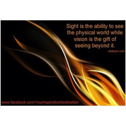 Sight is the ability to see 