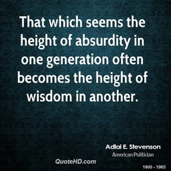 That which seems the 
