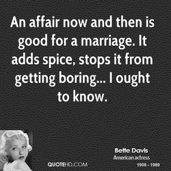 An affair now and then is 