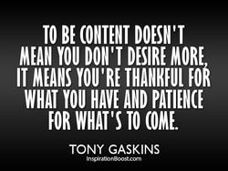 TO BE DOESN'T 