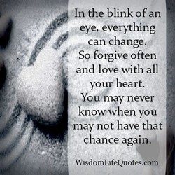 In the blink of an 