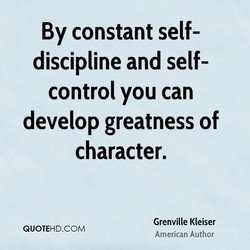 By constant self- 
