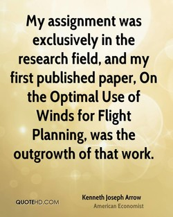 My assignment was 