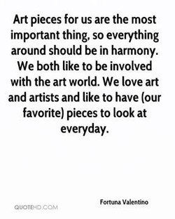 Art pieces for us are the most 