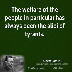The welfare of the 
