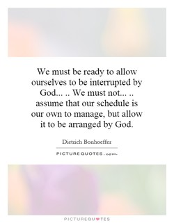 We must be ready to allow 