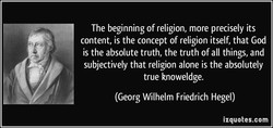The beginning of religion, more precisely its 