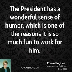The President has a 