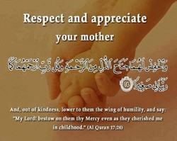 Respect and appreciate 