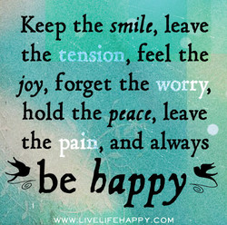 Keep the smile, leave 