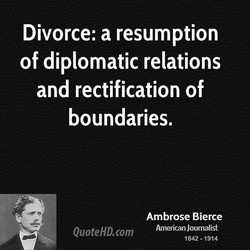 Divorce: a resumption 