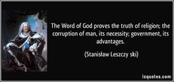 The Word of God proves the truth of religion; the 