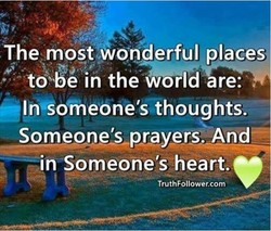 The most wonderful places 