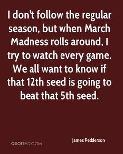 I don't follow the regular 