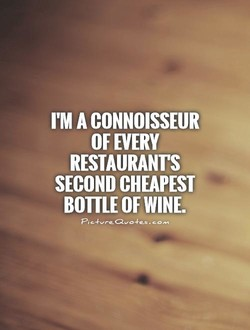I'M A CONNOISSEUR 